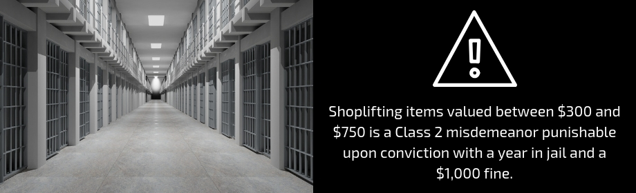 shoplifting penalties